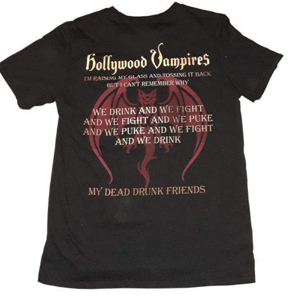 Hollywood Vampires - T-shirt - Drink, Fight, Puke