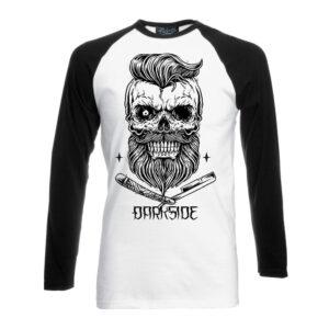 Darkside - Långärmad T-shirt - Bearded Skull