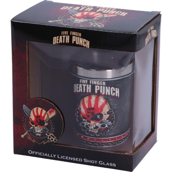 Five Finger Death Punch - Shotglas - Knuckle Duster Skull Shooter - 2-Pack