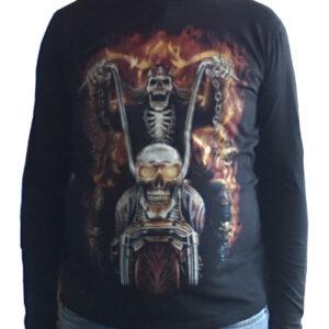 M-Empire - T-Shirt (Långärm) - Dödskalle & Motorcykel