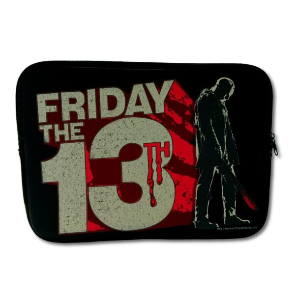 "Friday The 13Th - Laptopfodral - 13"" - Block Logo"