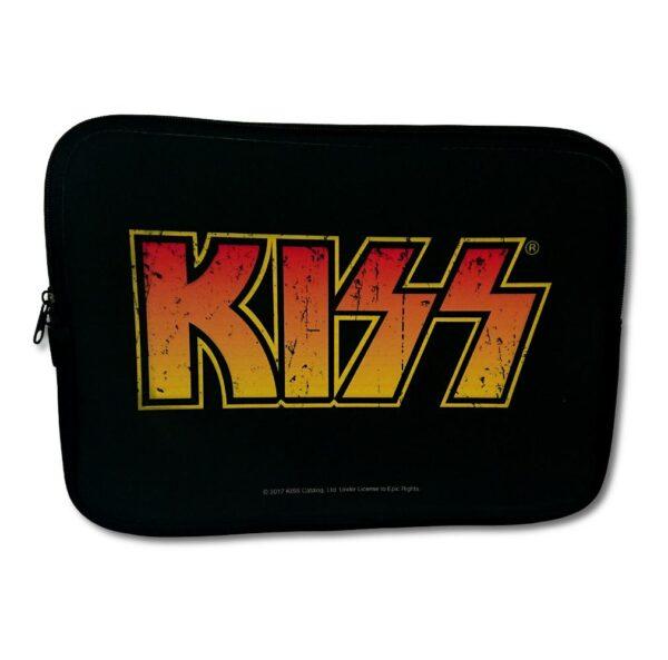 """Kiss - Laptopfodral 13"""" - Distressed Logo"""