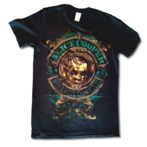 Alice Cooper - T-Shirt - Billion Dollar Baby Crest