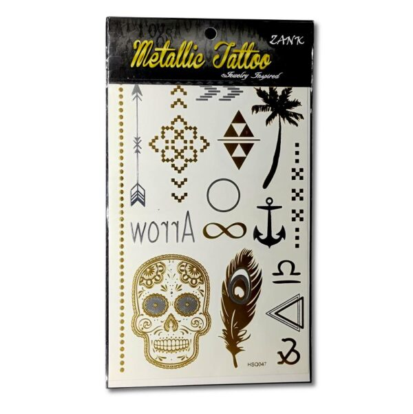 Zank - Metallic Tattoo - Dödskalle