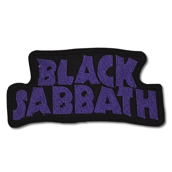 Black Sabbath - Tygmärke - Purple Logo